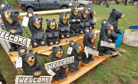 Bear carving at Red Oak Campground